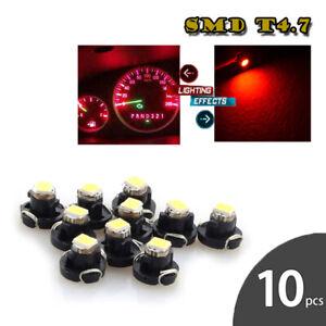 10x T4.2 1210 Instrument LED Yellow Light Bulbs Neo Wedge Panel Gauges Lamp
