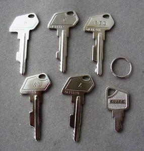 Kassenschluessel-Registrierkasse-Multidata-Sam4s-uvm-Set-of-Cash-Register-Keys