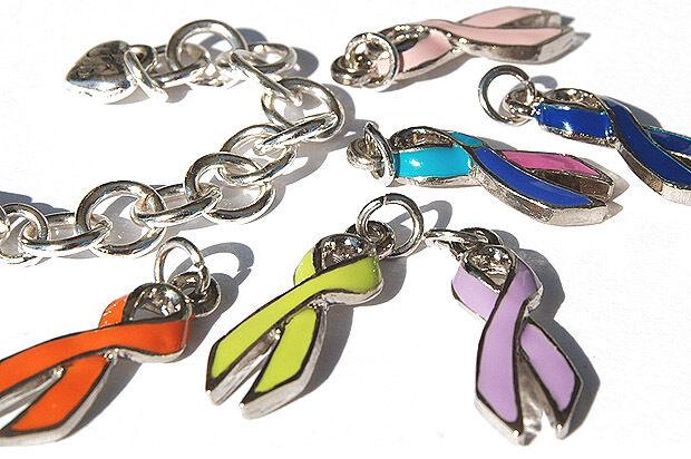 Cancer Awareness Ribbon Charm
