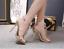 Women-039-s-Open-Toes-Rhinestones-PVC-Gold-Clear-Slingbacks-Sandals-Slim-High-Heels thumbnail 3