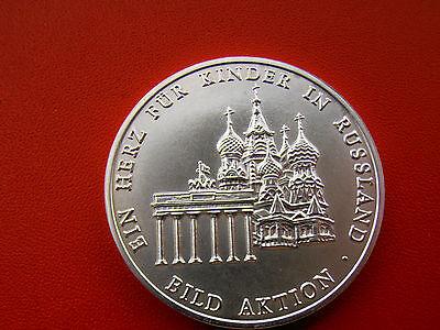 *silbermedaille Ca.38g.(999)*ein Herz Für Kinder In Russland * Selten!(schub 41)