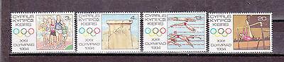 """613-615 ** Toller Markensatz Von Zypern """" Xxii Olympiade 1984 """" Mich Nr"""
