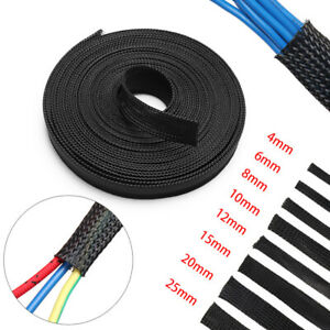 Black-Expandable-Tight-Gland-Braid-Sleeving-Wire-Insulation-Protection-Cable