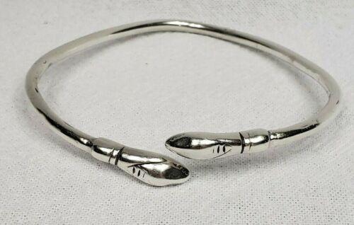 VINTAGE Sterling Silver Snake Upper Arm Band Brace
