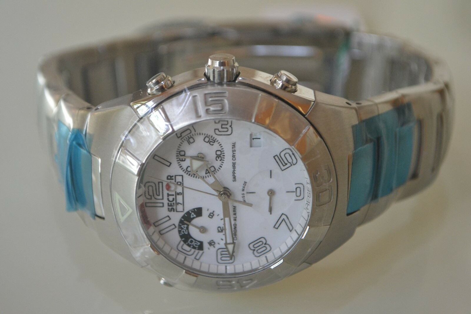 Cristal Crono Sector Hombre Vintage Reloj Alarma Zafiro 750 eQxrBWEdCo