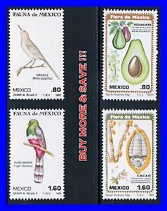 Mexico-1981-Aves-amp-Frutas-Sc-1234-37-MNH