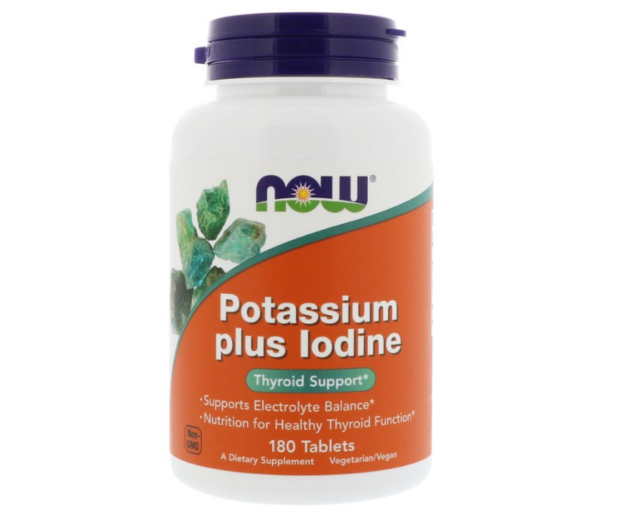NEW NOW FOODS POTASSIUM PLUS IODINE HEALTHY SUPPORT BODY CARE SUPPLEMENT DIETARY