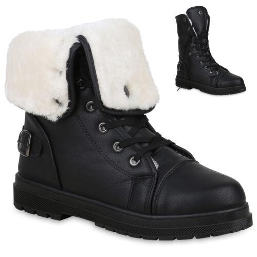 Warm Gefütterte Damen Stiefeletten Worker Boots Outdoor 813745 Schuhe