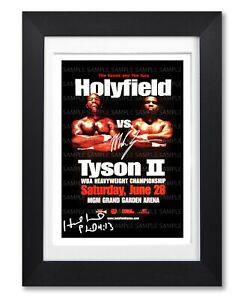 EVANDER-HOLYFIELD-VS-MIKE-TYSON-II-SIGNED-POSTER-PRINT-PHOTO-AUTOGRAPH-GIFT