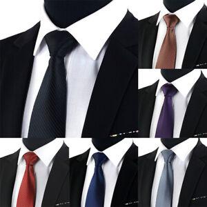 Jacquard-Woven-New-Fashion-Classic-Striped-Tie-Men-039-s-Silk-Suits-Ties-Neck-IO