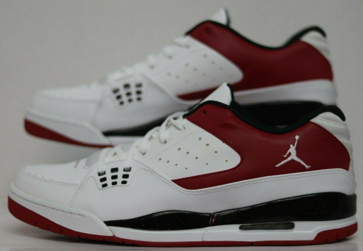 Jordan SC-1 LOW White White0GYM Red-Black 599929-101 Mens Size 13.0