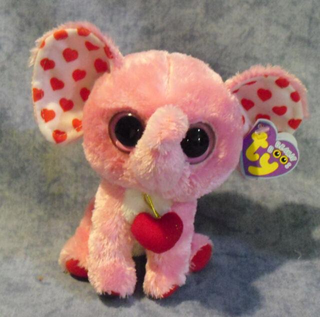 aa5b49fed31 Ty Beanie Boos Tender Elephant 15cm Plush Pink.