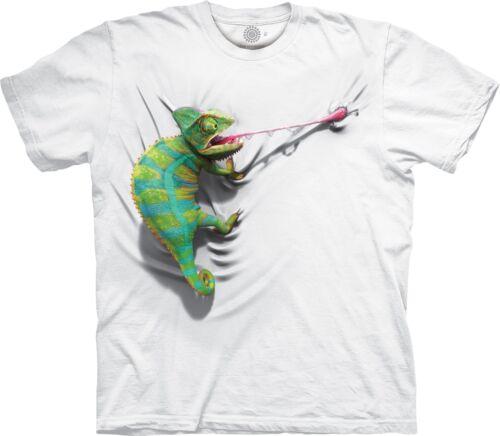 El Alpinismo camaleón reptil Blanco Camiseta Adulto
