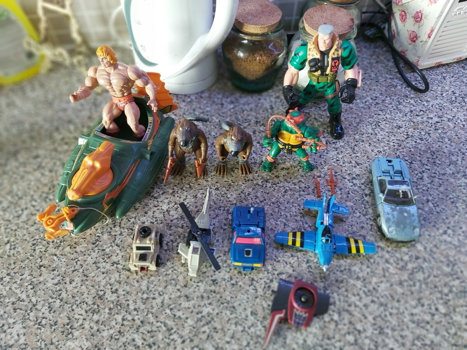 Vintage Toys He Man Turtles Small Soldiers Transformers Go Bots bundle