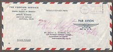 Dept State 1962 cover Foreign Service American Embassy Santiago- DC/fwd Sarasota