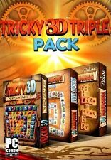 3D Mahjongg Deluxe, 3D Mahjong Jewel Edition, Tricky 3D PC Games Windows 10 8 7