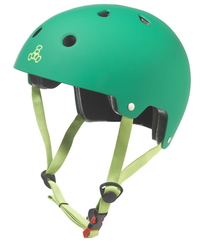 Triple Eight Brainsaver GOMMA Casco Cervello Svr Skate Bicicletta Lg-Xl Grn-Rbr
