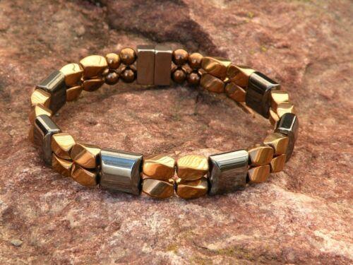 100/% Magnetic Copper n Black Hematite Bracelet Anklet 2 Row Stunning n Strong