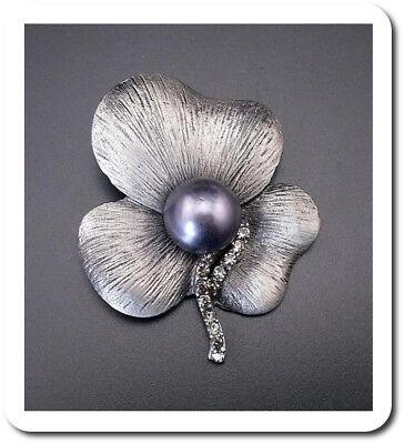Brosche  Blumen Schalhalter Anstecknadel Jackenschliesse Kristall Strass
