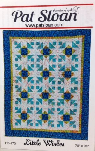 """crib or other sizes Pat Sloan LITTLE WISHES pieced quilt pattern 78/"""" x 98/"""" lap"""