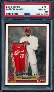 2003-04-Topps-LeBron-James-Rookie-RC-221-PSA-10-GEM-MINT