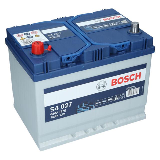 Bosch S4 027 12V 70Ah 630 A EN Autobatterie Starterbatterie ersetzt 65Ah 75Ah