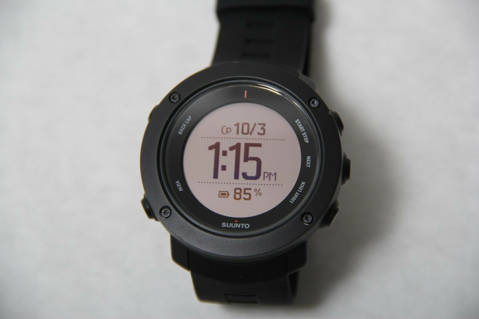 Suunto Ambit3 Vertical Black Gps Watch With Heart Rate Monitor Sport Hr For Multisport Ss021964000 Ebay