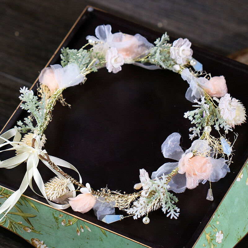 Forest women's handmade fairy wreath headdress photo shoot hair accessories