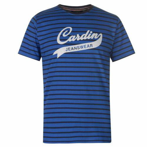 Pierre Cardin rayé JEANS WEAR t shirt homme homme à encolure ras-du-cou pantalon