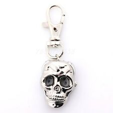 NEW Silver Skull Key Ring Quartz Pocket Pendant Watch Children Kids Gift Hot!