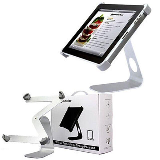 AGPtek 360° Silver Aluminum Alloy Desktop Holder Table Stand iPad 1/2/3/4 New