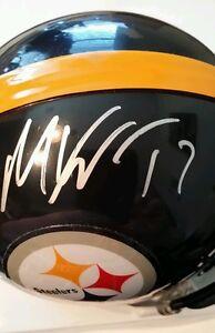 Mike Wallace Signed Pittsburgh Steelers mini-helmet JSA COA