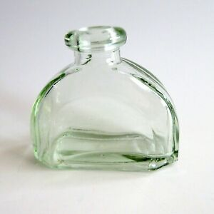 Clear-Green-Glass-Bottle-Curved-Half-Dome-Decorative-Diffuser-Jar