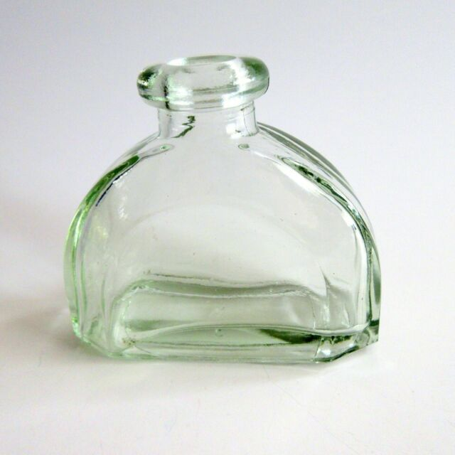Clear Green Glass Bottle Curved Half Dome Decorative Diffuser Jar