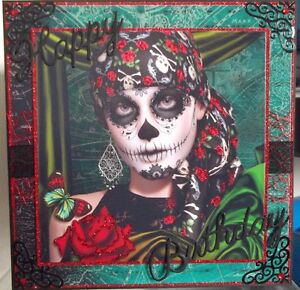 Day of the dead birthday card best birthday cake 2018 decorative skull day of the dead greetings card cp1130 co m4hsunfo
