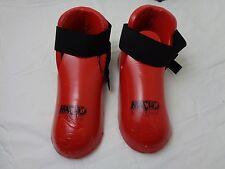 Vintage Taekwondo Martial Arts Red Foam Foot Protective Guards