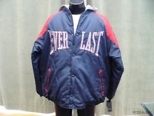 Everlast Parka Hoodie Blue Red Size XL Puffy Fresh Jacket Button Boxing Gym NWT