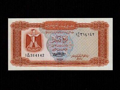 LIBYA 1//2 DINARS ND P.33b  IN GEM UNC COND. 1972