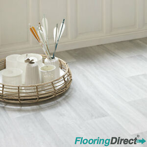 Admirable Details About White Grey Oak Vinyl Flooring Wood Effect Non Slip Lino Kitchen Bathroom 2 3 4M Home Interior And Landscaping Eliaenasavecom