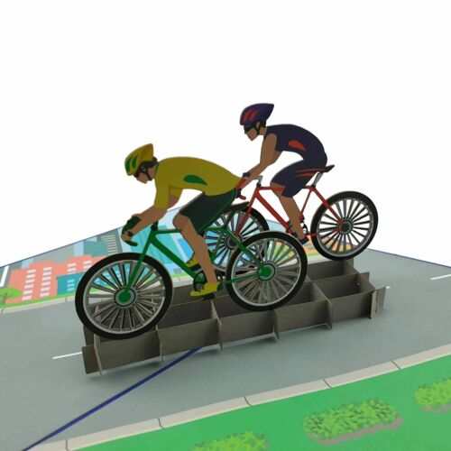 Cyclist 3d pop up card