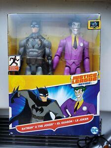 Mattel-DC-Justice-League-Action-Batman-amp-The-Joker-12in-Posable-Figures