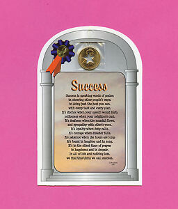 Success Poem Verse Card With Star Cut Out Penny Sku 536 Ebay