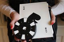 KATE SPADE Queen of Spades Card Wristlet & Poker Chip Coin Purse SET Las Vegas