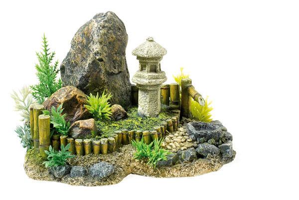classic 21cm zen garden with plants aquarium fish tank. Black Bedroom Furniture Sets. Home Design Ideas