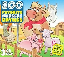 100 Favorite Nursery Rhymes Sing Along 3 CD SET Best Loved Songs For Children