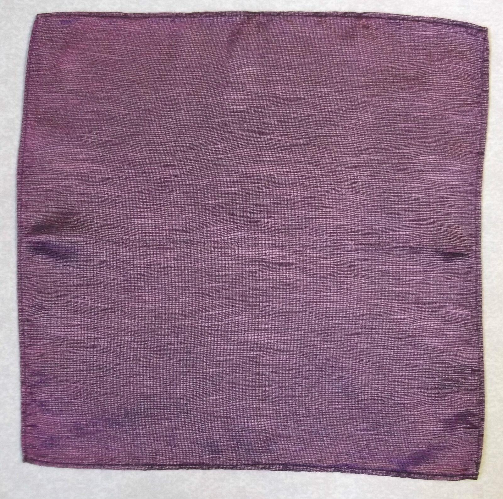 Handkerchief MENS Hankie Top Pocket Square Wedding Fashion Party PLUM PURPLE