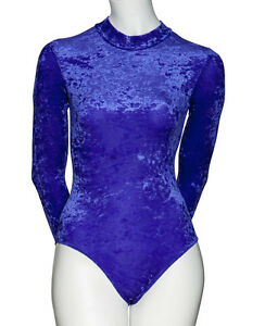 af143a85ac86 All Colours Dance Gymnastics Velour Velvet Long Sleeve Leotard ...