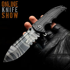 MTECH TACTICAL Military Ops URBAN CAMO Spring Assisted Knife Rescue Pocket Blade