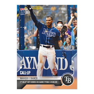 Wander Franco - 2021 MLB TOPPS NOW Card #402 FIRST CAREER HOMERUN Presale Rays