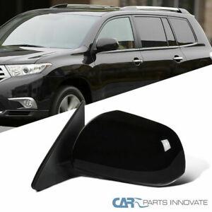 For Toyota 08-13 Highlander Glossy Black Power Heat 5 Pin Passenger Side Mirror
